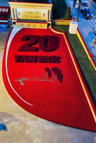 """""""Azpetrol"""" şirkəti 20 yanvar faciəsi qurbanlarının xatirəsini yad edib"""