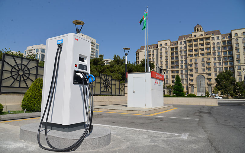 """""""Azpetrol"""" company which has a large network of petrol filling stations in our Republic leads in the charging of electromobiles."""